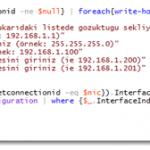 Powershell ile IP Konfigürasyonunu Değiştirmek