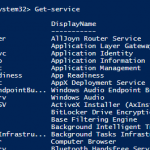 Windows Powershell ile Windows Servislerini Yönetmek – Part I