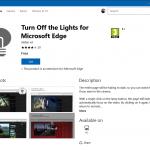 """Microsoft Edge üzerinde """"Işıkları Kapat!"""" Modu"""