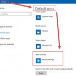 Windows 10'da Default Web Browser Değiştirme
